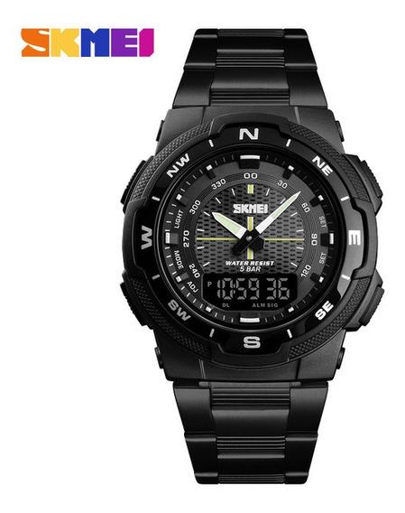 Skmei 1370? Moda Digital Sport Relógio Pulseira De Aço Preto
