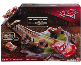 Cars Disney Pixar Pista Reto De Tractores De Smokey