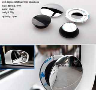 Espelhos Auxiliares Convexo P/carros Motos Vans - ( O Par )