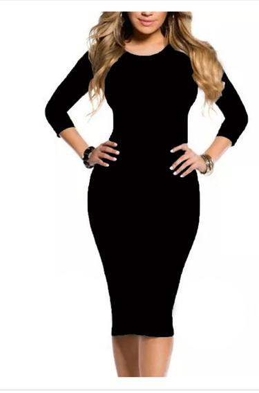 Vestido Midi Moda Evangelica Casual Blogueira Em Suplex