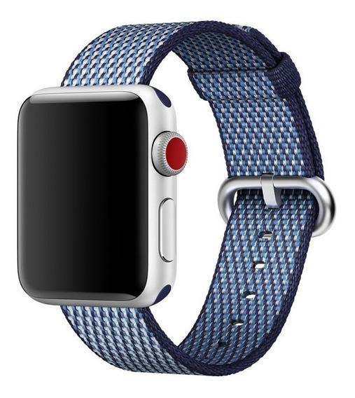 Nova Pulseira De Nylon P/ Apple Watch 38mm Serie 1/2/3 Azul
