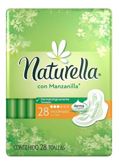 Naturella Toallas Femeninas Con Manzanilla Paquete 28 Piezas