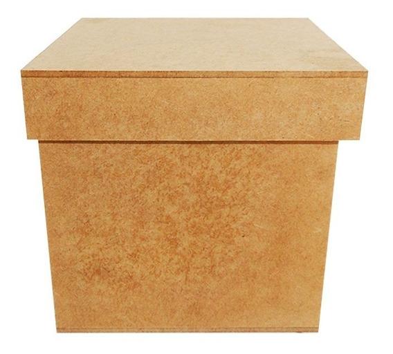 Kit 10 Caixa Lembrancinha Presente Caneca Mdf Cru 13x13x13