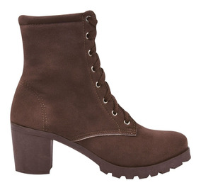 Bota Coturno Sapato Feminino Cano Curto Salto Tratorado Jn/1