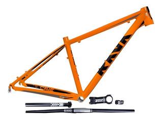 Quadro Bicicleta Rava Cave Mtb 15.5; 17; 19 Laranja E Preto