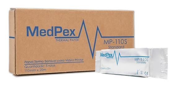 5 Rolos Filme Papel Medpex App 110s Impressoras 890md