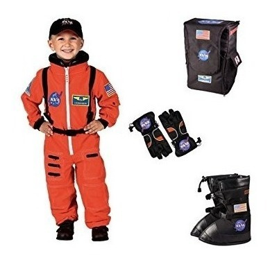 Big Boys Nasa Orange Astronaut Costume Boots Guantes Y Mochi