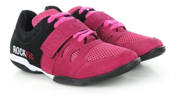 Tenis Para Crossfit E Lpo Em Couro Pink E Preto - - Rosa
