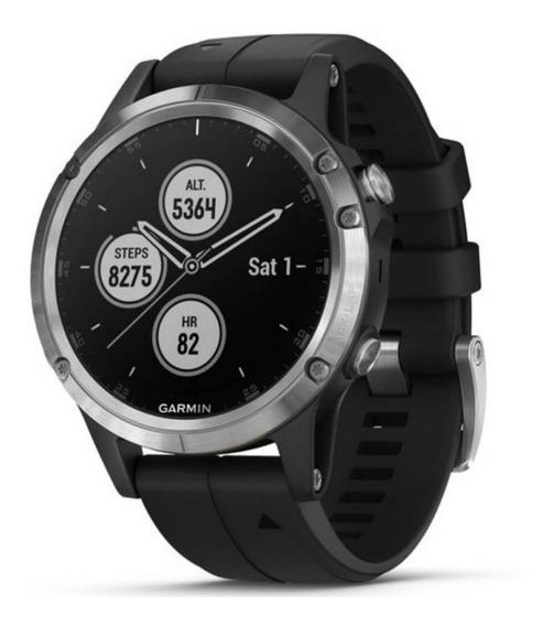 Relógio Multiesportivo Garmin Fenix 5s Plus Preto E Prata