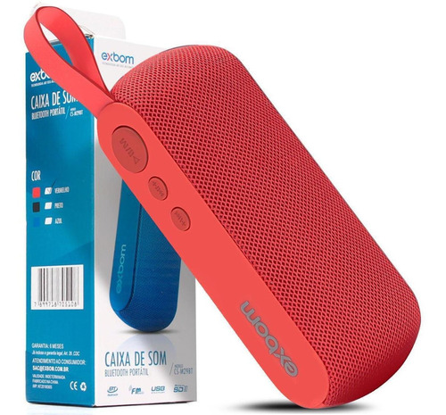 Caixa De Som Exbom Portátil Bluetooth Fm Sd Usb Mic P2