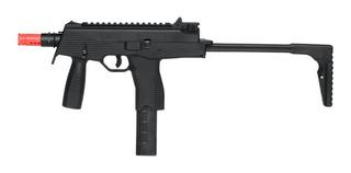 Rifle De Airsoft À Gás Gbb Green Gás Mp9 Black Blowback 6mm