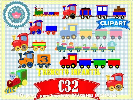 Kit Imprimible Trencito Infantil Niños Decoración Ferrocarri
