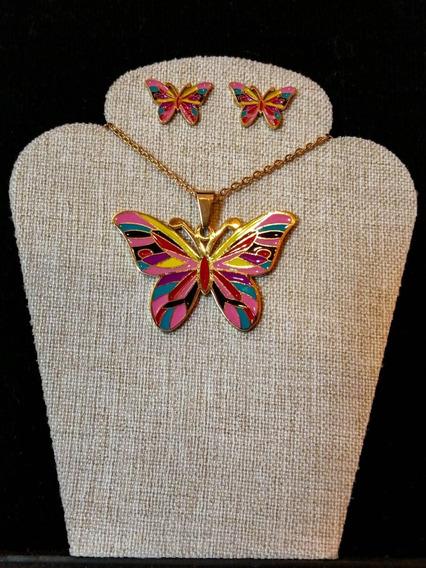 Conjunto De Acero Inoxidable Mariposa