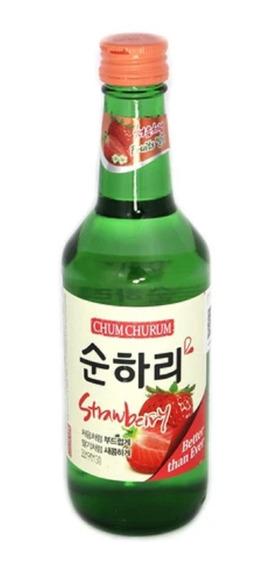 Alcohol Coreano Soju Chum Churum Fresa 1 Pza 360 Ml
