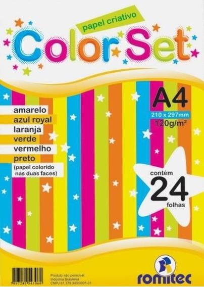Bloco Papel Color Set Criativo A4 24fl 120g - 1 Unidade