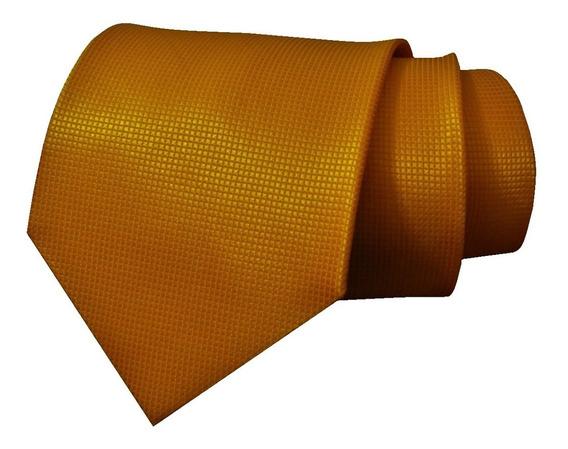 Elegante Corbata Amarilla Mostaza Tela Jacquard Envío Gratis