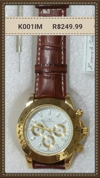 Relógio Ks Imperial Couro Automático
