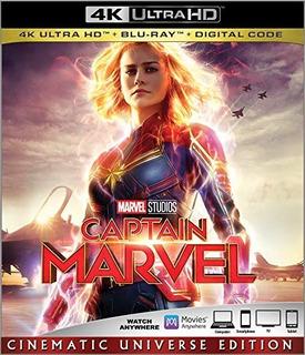 Capitana Marvel 4k + Blu-ray + Digital Hd
