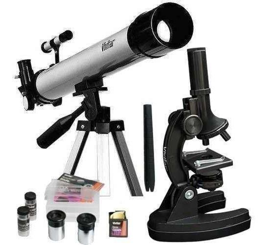 Kit Telescópio E Microscópio Luneta 120x Vivtelmic30 Vivitar