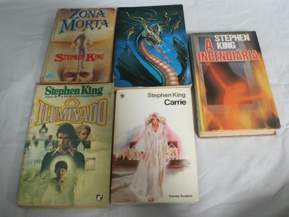 Coleção Com 5 Livro Do Mestre Stephen King (raríssimo)