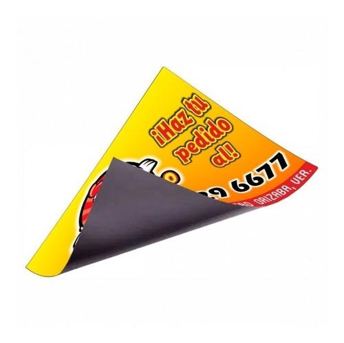 X500 Tarjetas Publicitarias Imantadas 9x5.5cm (con Diseño)