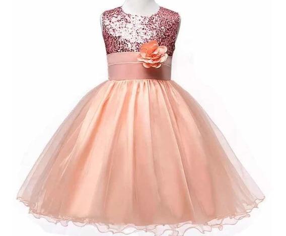 Vestido De Princesa, Para Fiestas, Lentejuelas, Sin Mangas