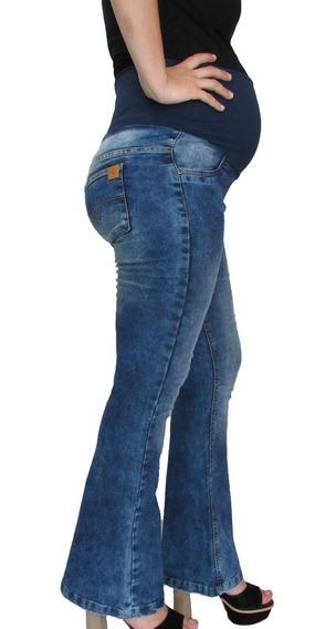 Calça Flare Gestante Gravida Jeans - Veja A Promoção Na Desc