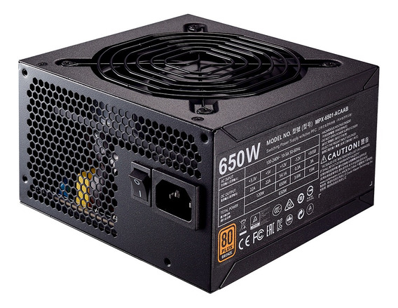Fonte 650w 80plus Bronze Atx Cooler Master Mpx-6501-acaab-wo