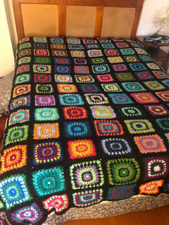 Cubrecama A Crochet Hecho A Mano 2 Plazas