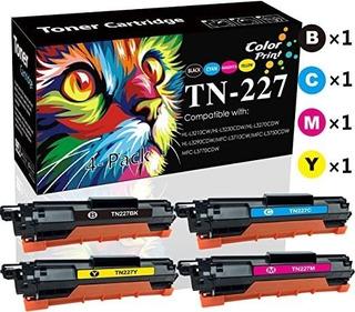 (4-pack, High Yield) Compatible Tn227 Tn227 Cartucho De Tóne