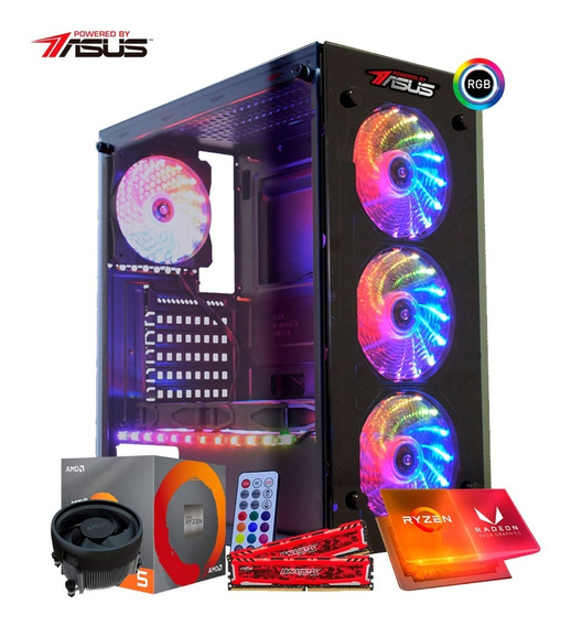 Pc Itx Gamer Powered By Asus Ryzen 5 3400g 3,7 Ghz, Vega Graphics 11, Mem 8gb (2x4), Hd 1tb, Envio Imediato - Oferta!