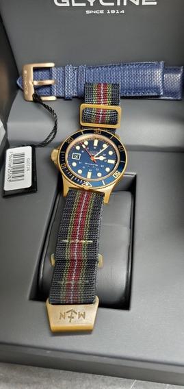 Relógio Glycine Original Modelo Gl0174 Bronze Com Patina