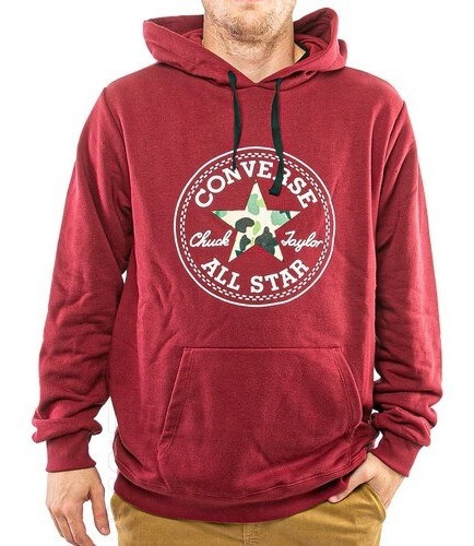 Buzo Converse Patch Hoodie Bordo Hombre Rcmdr