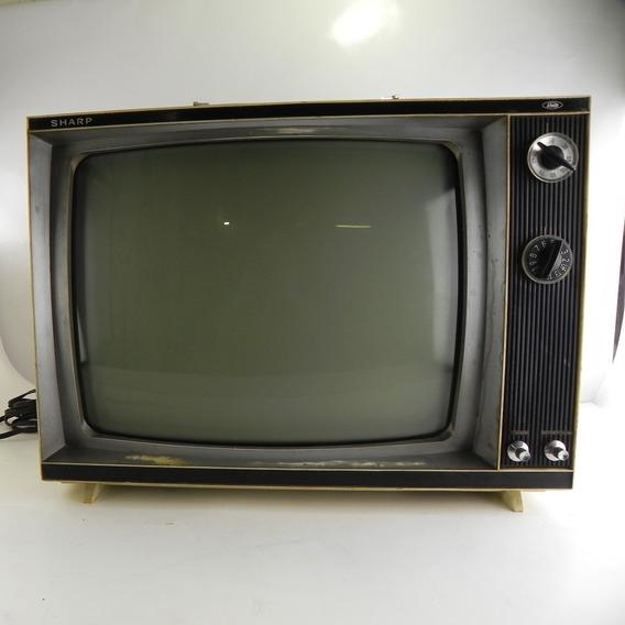 Tv Antiga Sharp Tf-48p 150w Importada Decoração C/ Defeito