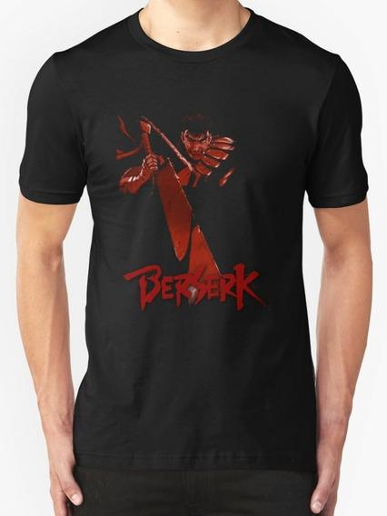 Camisa Camiseta Berserk Guts Marca Demônio Simbolo Blusa 2