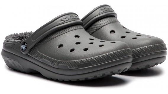 Crocs Abrigo Classic Lined Clog - Slate Grey / Smoke