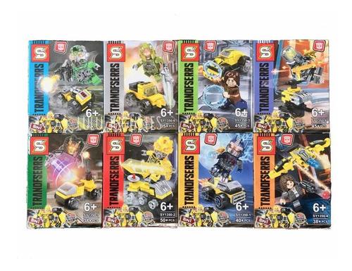 Transformers Juguetes Bloques De Construcción 8 En 1 X8 Set