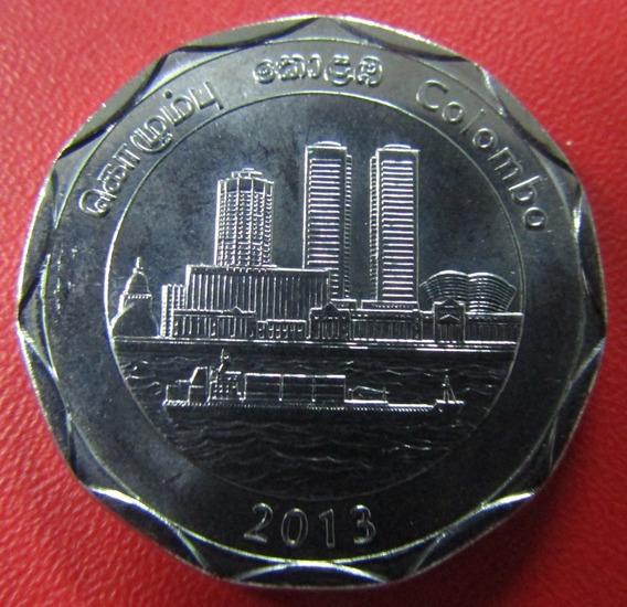 Sri Lanka 10 Rupias 2013 Unc Serie Cuidades Colombo