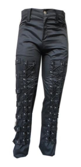 Eretica Ropa Dark-pantalon Algodon Hebillas-gotico-rock