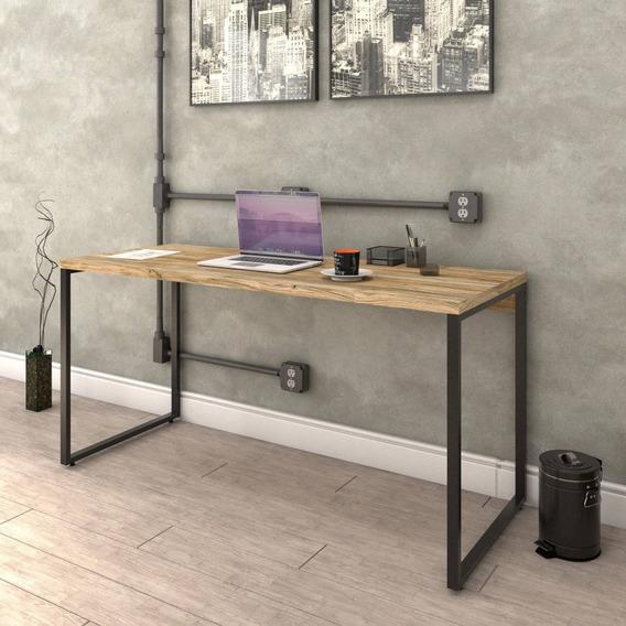 Escrivaninha De Escritório Diretor Estilo Industrial 1,50m