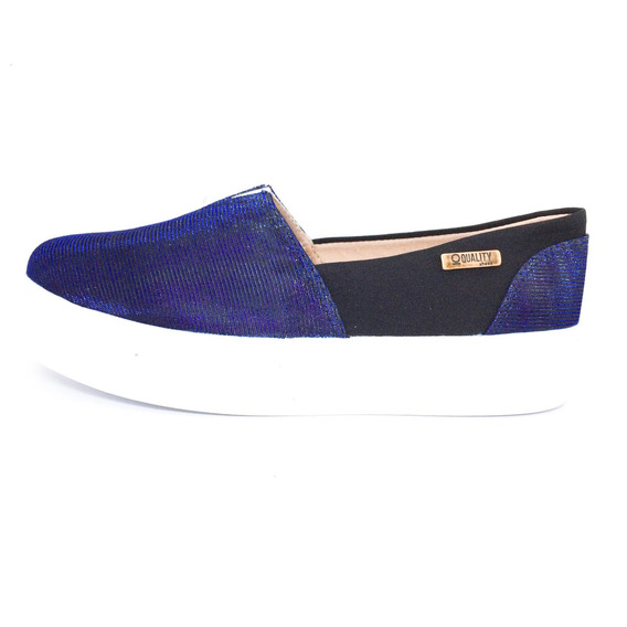 Tênis Flatform Quality Shoes Feminino 003 Azul Multicolor E