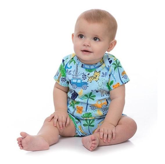 Macaquinho Up Baby Estampado Safari