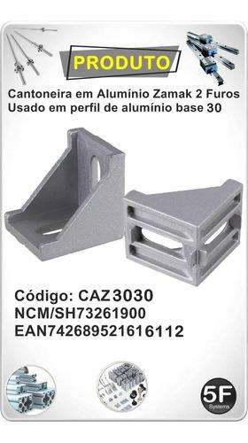 Cantoneira Alumínio Zamak  30x30 Pack 12 Peças