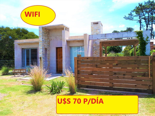 U$s 70 P/día Casa C/ Wifi A 1 Cuadra Del Mar En Pda 14 Mansa