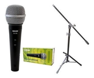 Combo Microfono Shure + Soporte +cable+ Pipeta