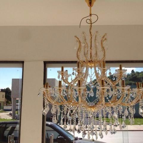 Lustre De Cristal Com 24 Lampadas Preço De Custo Monstruario