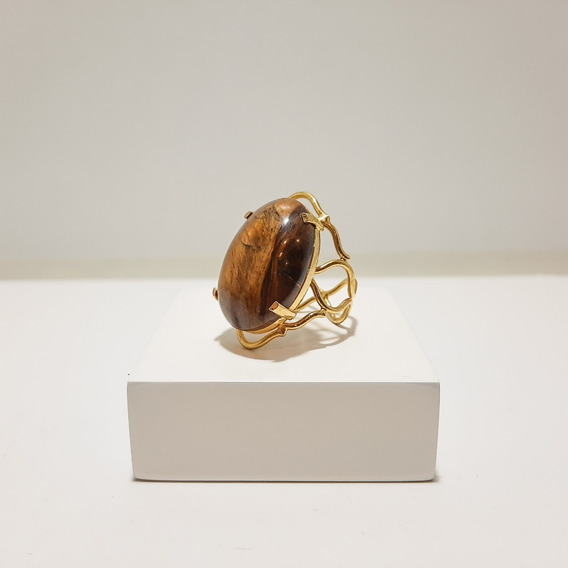 Anel De Pedra Natural (regulável)