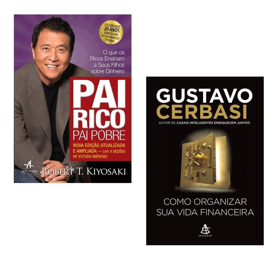 Livros Pai Rico + Como Organizar Sua Vida Financeira #