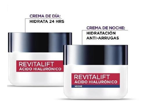 Imagen 1 de 2 de Pack De Crema Revitalift Con Ácido Hialurónico Día Y Noche