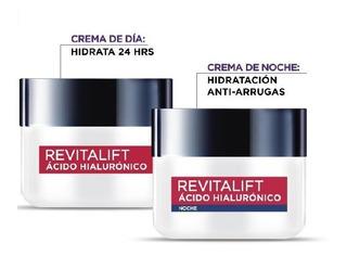 Pack De Crema Revitalift Con Ácido Hialurónico Día Y Noche
